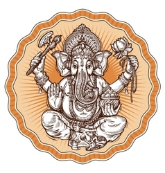 Ganesh Chaturthi hand-drawn sketch religious vector