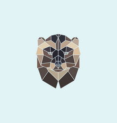 Geometric head wolverine vector