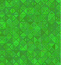 Green color abstract triangle mosaic background vector image