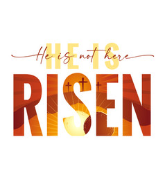 happy easter elegant lettering quote vector image