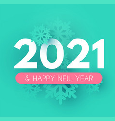 happynew 2021 year soft background with snowflakes vector image