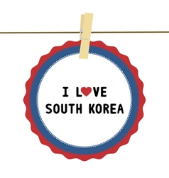 I lOVE SOUTH KOREA4 vector image