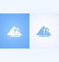 icon of sailing ship vector image