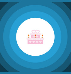 Isolated wedding cake flat icon patisserie vector