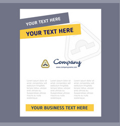Jump road sign title page design for company vector
