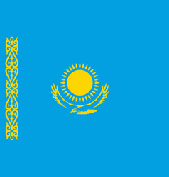 Kazakhstan flag kazakhstan flag vector