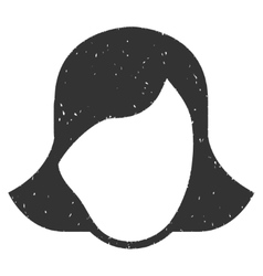 Lady Face Template Grainy Texture Icon vector image