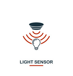 light sensor icon from sensors icons collection vector image