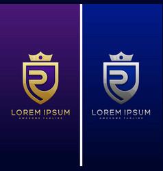 Luxury letter r concept design template vector