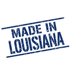 Made in louisiana stamp vector
