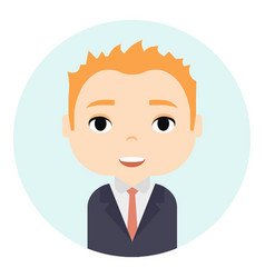 Man avatar with smiling faces male cartoon vector