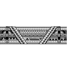 maori style armband tattoo shape vector image