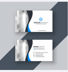 modern business card design with wavy shape vector image