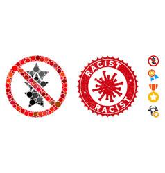 mosaic no rating stars icon with coronavirus vector image