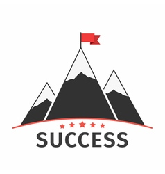 Mountains with Flag vector