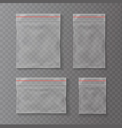 plastic pockets transparent bag isolated vector image