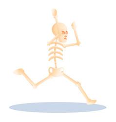 Running skeleton icon cartoon style vector