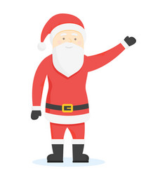 Santa claus cartoon style characters vector