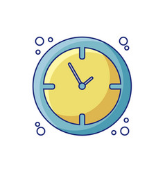 School wall clock detail style icon vector