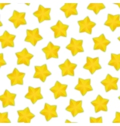Seamless Pattern with Starfruit vector