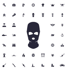 Special forces mask icon vector