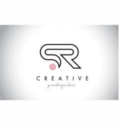 Sr letter logo design with creative modern trendy vector