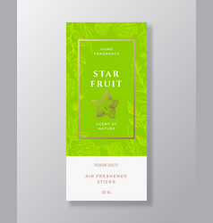 Starfruit home fragrance abstract label vector