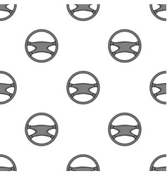 steering wheelcar single icon in monochrome style vector image