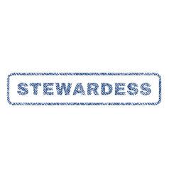 Stewardess textile stamp vector