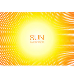 sun orange halftone circles horizontal background vector image