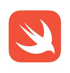 Swift programming language emblem vector