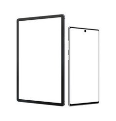 tablet computer and smartphone mockup vector image