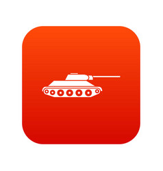 tank icon digital red vector image