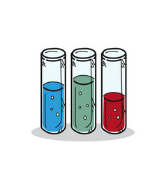 test tube on a white background vector image