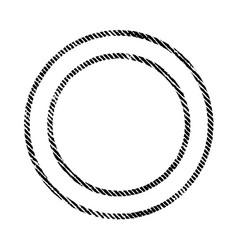 thin grunge stamp vector image
