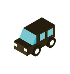 transport suv car vehicle isometric icon vector image