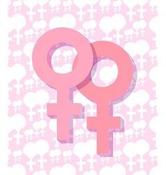 Two female symbol vector