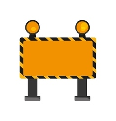under construction road sign icon vector image
