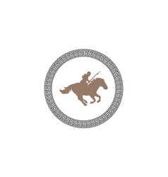 war horses with soldiers carrying weapons vector image
