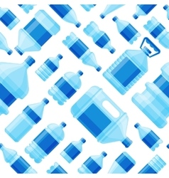 Water bottle seamless pattern vector image