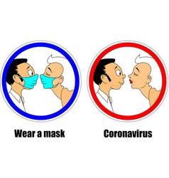 Wear a mask vector