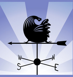 weathervane - running rooster 5 vector image