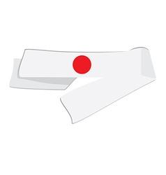 White japanese headband vector