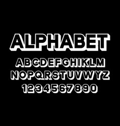 White of font and alphabet vector