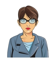 woman pop art comic design vector image vector image