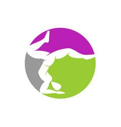 Yoga circle logo design meditation isolated vector