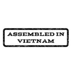 assembled in vietnam watermark stamp vector image vector image