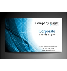 blue business template vector image vector image