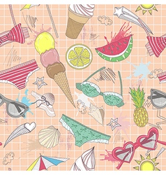 Cute summer abstract seamless pattern vector image vector image