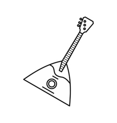 Guitar triangle icon outline style vector image vector image